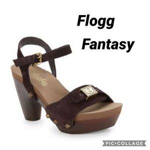 Flight brown suede Fantasy sandals